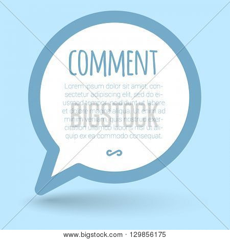 Comment label vector flat design mock up.