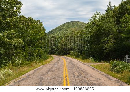 Hills and Road in Margaree Valley - Cape Breton