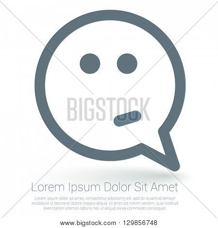 Confused emoticon vector mock up.