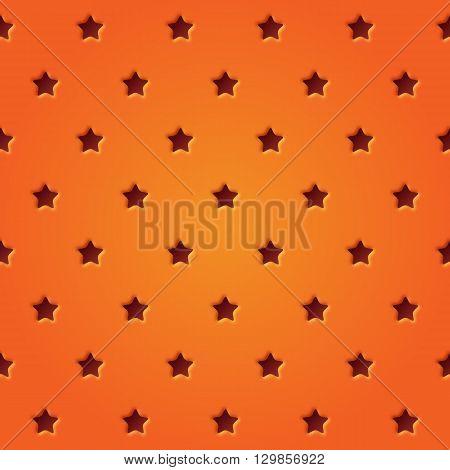 Astract perforated stars seamless pattern vector illustration. Stars pattern design.