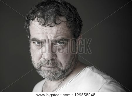 Portrait of a tired mature man