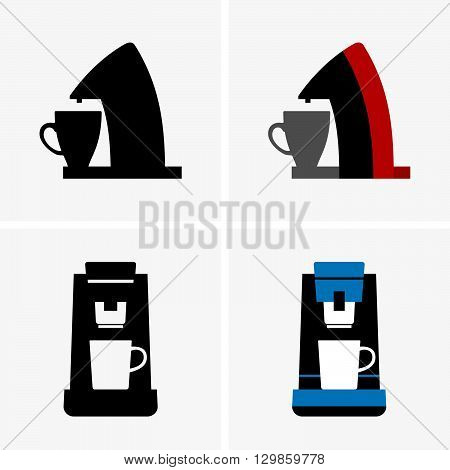 Set of single serve coffee makers ( shade pictures )