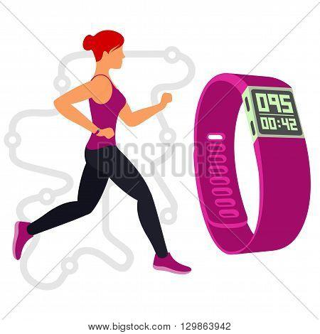 Running. Fitness Tracker. 01