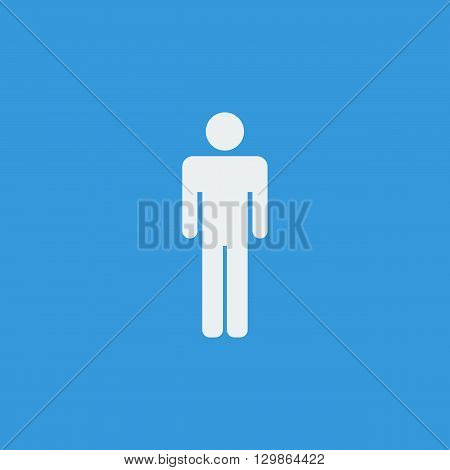 Male Icon Icon In Vector Format. Premium Quality Male Icon Symbol. Web Graphic Male Icon Sign On Blu
