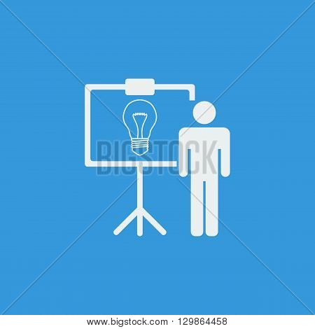 Presentation Idea Icon In Vector Format. Premium Quality Presentation Idea Symbol. Web Graphic Prese