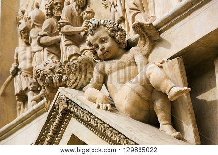 Statue Of Angel At Prague Loreta
