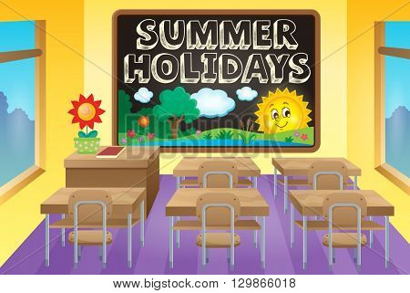 School holidays theme image 3 - eps10 vector illustration.