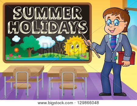 School holidays theme image 5 - eps10 vector illustration.