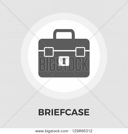 Briefcase icon vector. Flat icon isolated on the white background. Editable EPS file. Vector illustration.
