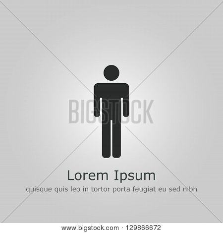 Male Icon Icon In Vector Format. Premium Quality Male Icon Symbol. Web Graphic Male Icon Sign On Gre