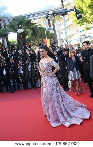 Aishwarya Rai attends the screening of 'From The Land Of The Moon (Mal De Pierres)' at the annual 69th Cannes Film Festival at Palais des Festivals on May 15, 2016 in Cannes, France.