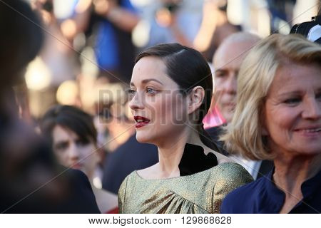 Marion Cotillard  attends the screening of 'From The Land Of The Moon (Mal De Pierres)' at the annual 69th Cannes Film Festival at Palais des Festivals on May 15, 2016 in Cannes, France.