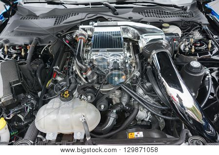 Modified Ford Mustang Engine