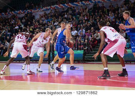 Bc Neptunas Guard Martynas Mazeika (7) With Ball
