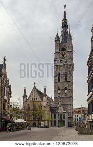 The 91-metre-tall belfry of Ghent is tallest belfry in Belgium