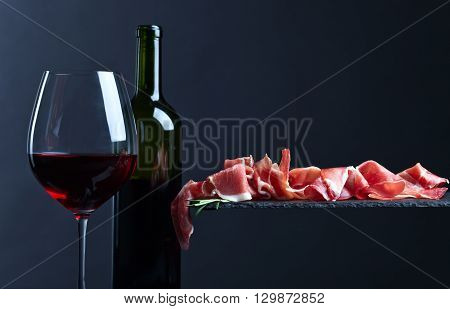 Jamon And Red Wine