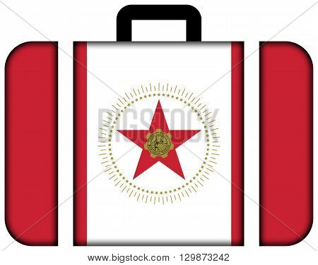 Flag Of Birmingham, Alabama. Suitcase Icon, Travel And Transportation Concept
