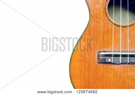 abstract portrait of a ukulele on white background