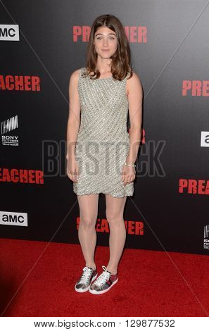 LOS ANGELES - MAY 14:  Lucy Griffiths at the Preacher Premiere Screening at the Regal 14 Theaters on May 14, 2016 in Los Angeles, CA