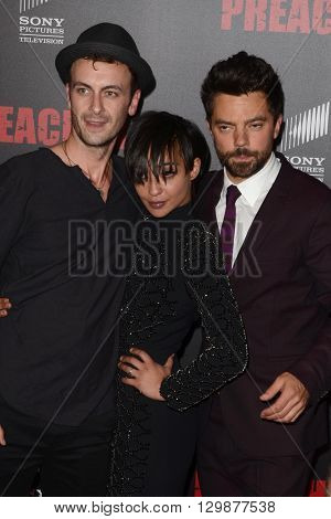 LOS ANGELES - MAY 14:  Joseph Gilgun, Dominic Cooper, Ruth Negga at the Preacher Premiere Screening at the Regal 14 Theaters on May 14, 2016 in Los Angeles, CA