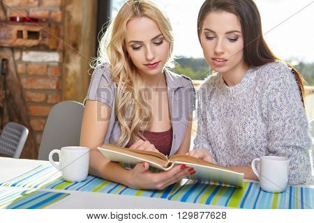 Two students learn in home