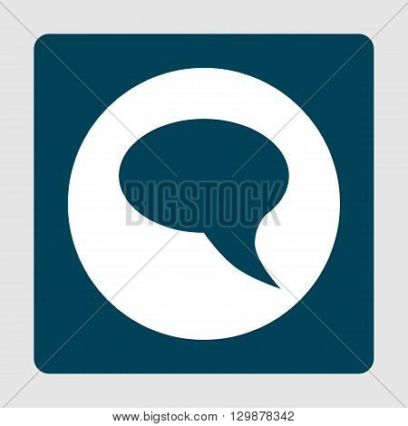 Talk Icon Icon In Vector Format. Premium Quality Talk Icon Symbol. Web Graphic Talk Icon Sign On Blu