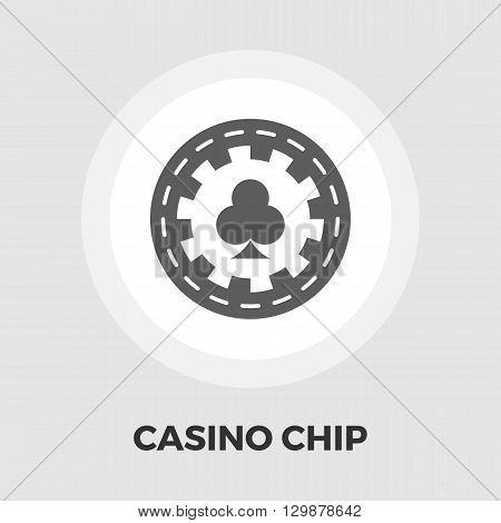 Gambling chips icon vector. Flat icon isolated on the white background. Editable EPS file. Vector illustration.