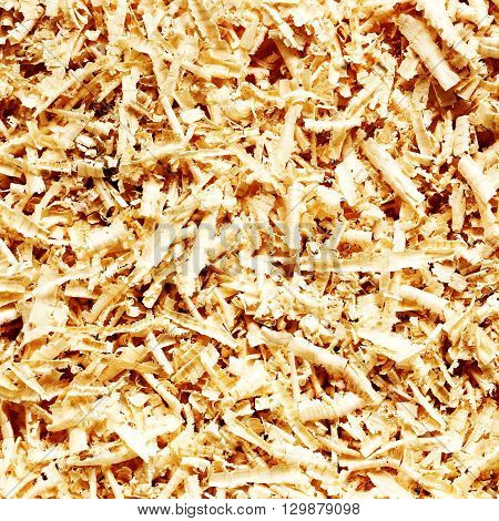 Brown wooden sawdust texture for a background