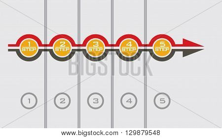 Flowchart element - abstract illustration with background