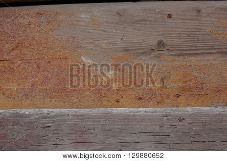 texture of cracked paint on the wooden surface of the old house