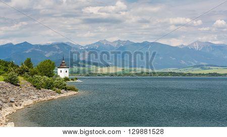 Gothic Church Havranok At Lake Liptovska Mara, Slovakia