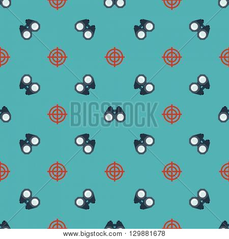 Binoculars, targets seamless pattern. Can be used for wrapping paper