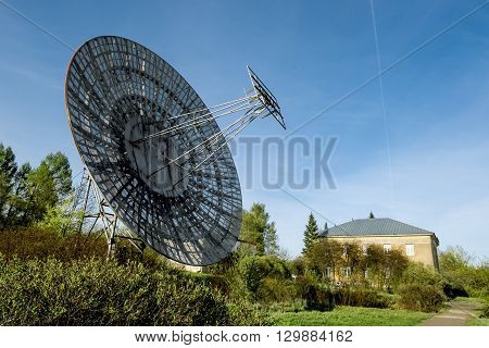May 7 2016. Saint-Petersburg.Antenna radio telescope of the Pulkovo Observatory in St. Petersburg.Russia.