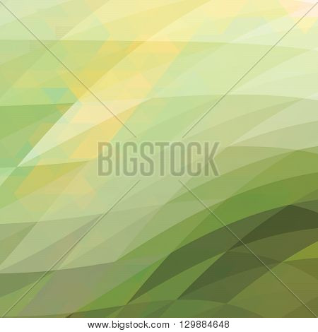 Abstract green geometric shapes background - Illustration