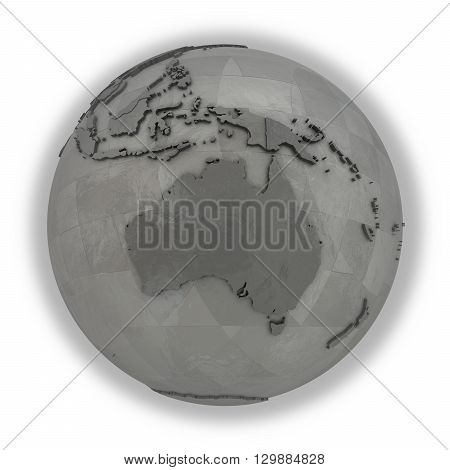 Australia On Metallic Planet Earth
