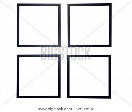 Blank Picture Frames Isolated