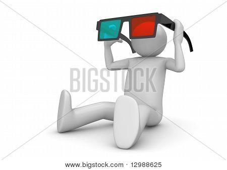 3D cinema visitor