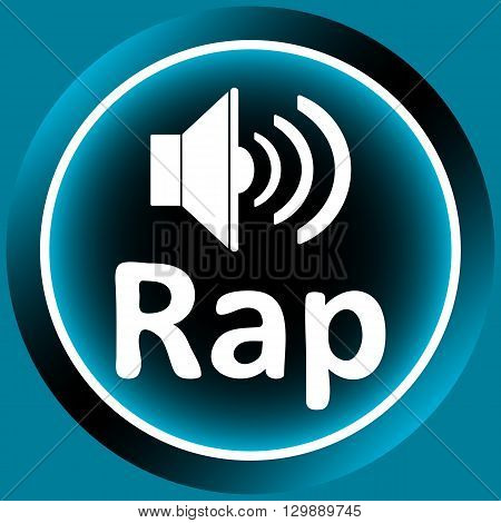 Icon the button with musical style rap and the loudspeaker