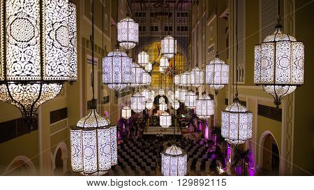 Decoration Inside A Hotel In Dubai