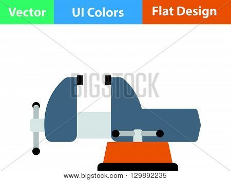 Flat Design Icon Of Vise
