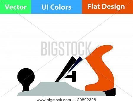 Flat Design Icon Of Jack-plane
