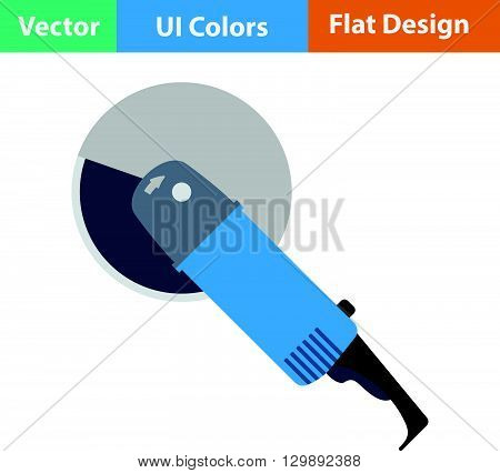 Flat Design Icon Of Grinder
