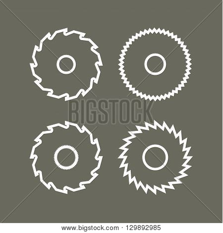 Circular Saw with Modern vector icon illustration flat style art