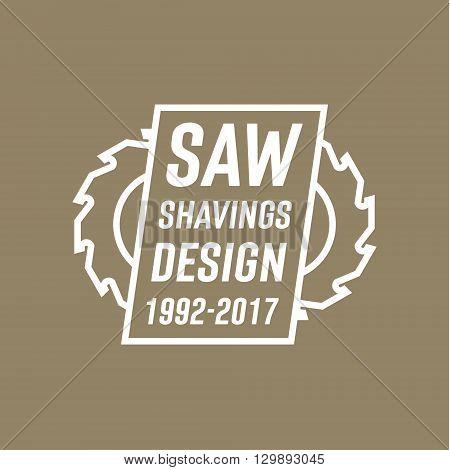 Circular Saw with Modern Logos vector illustration flat style art