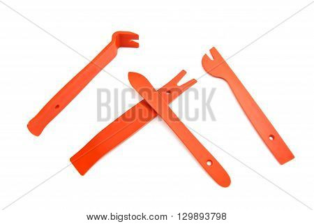 Red Crowbar And Shovels