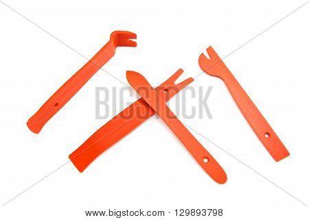 Red Crowbar And Shovels