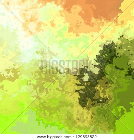 abstract green orange artistic spotty pattern texture background