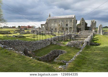 Binham Priory, Norfolk, England. 11th Century Benedictine monastery.