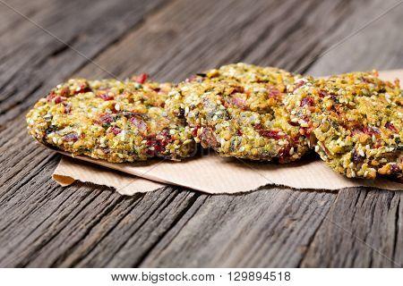 Vegan Homemade Seakale Beet Burgers