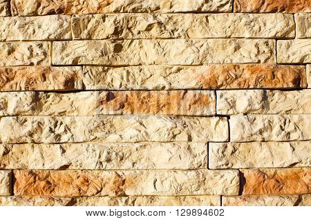 artificial stone wall. decorative stone closeup. background